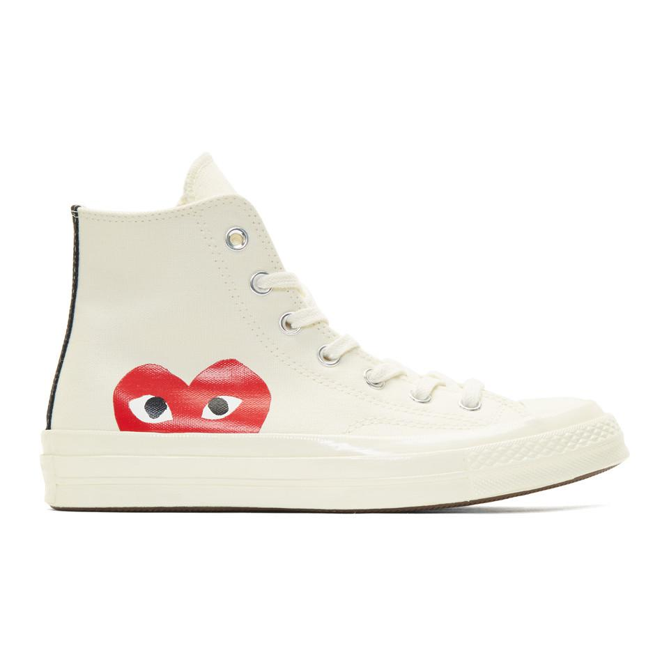 Comme des Garçons Play Off-White Chuck Taylor All-Star '70 High-Top Sneakers VLxgs9GYnJ