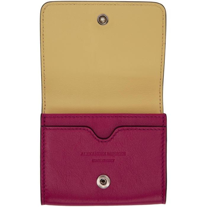 Lyst - Alexander mcqueen Pink Fold Over Business Card Holder in Pink