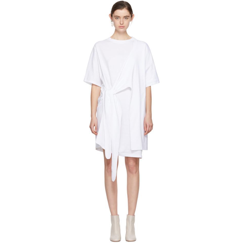 White Lylia T-Shirt Dress Acne Studios K0rXZRFAa