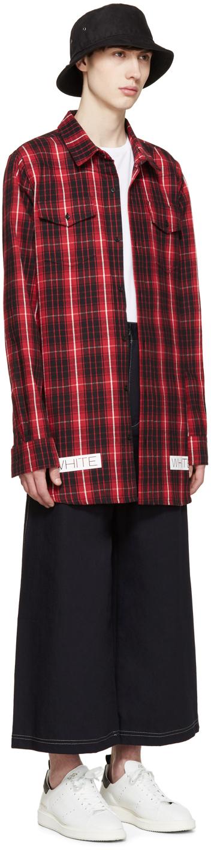 4cf248da98dd Lyst - Off-White c o Virgil Abloh Red   Black Flannel Check Shirt in ...