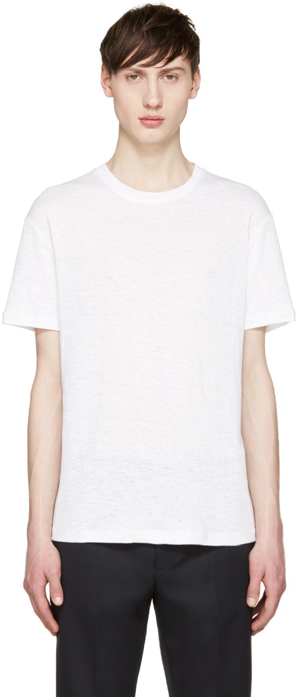 Fanmail white hemp t shirt in white for men lyst for Mens hemp t shirts