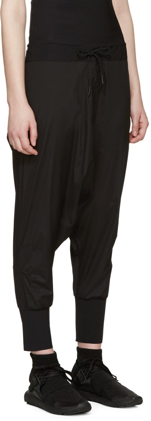 Y-3 Black Sarouel-style Lounge Pants in Black