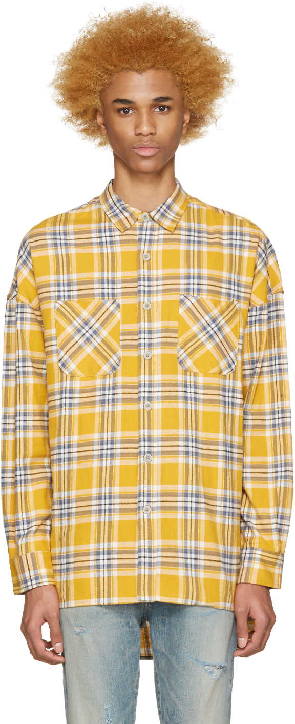 plain yellow flannel outfit men for women