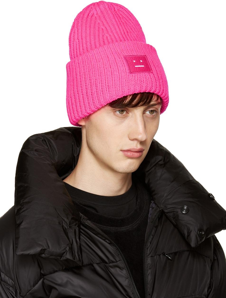 Acne Studios Pink Pansy Beanie in Pink for Men - Lyst 586ab039e2c