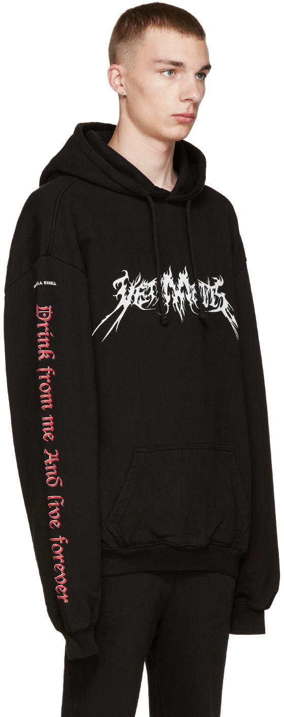 Vetements Total Darkness Cotton Hooded Sweatshirt In Black