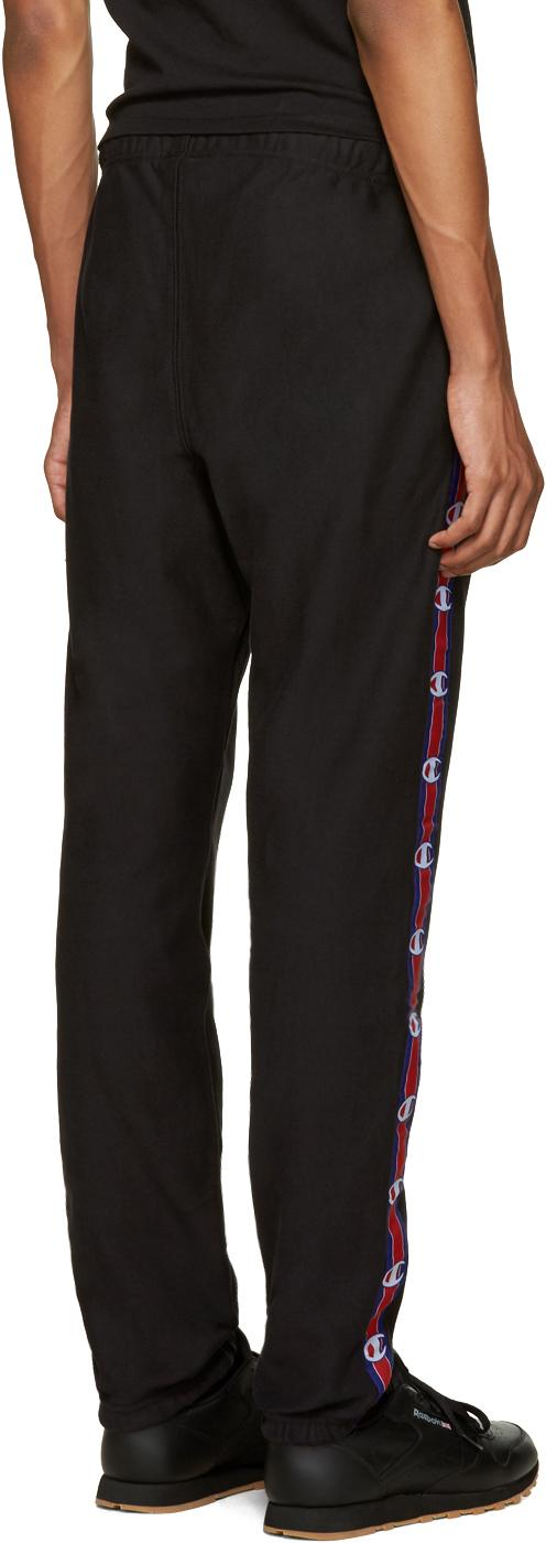 1cb88101b776 Lyst - Champion Black Side Logo Lounge Pants in Black for Men