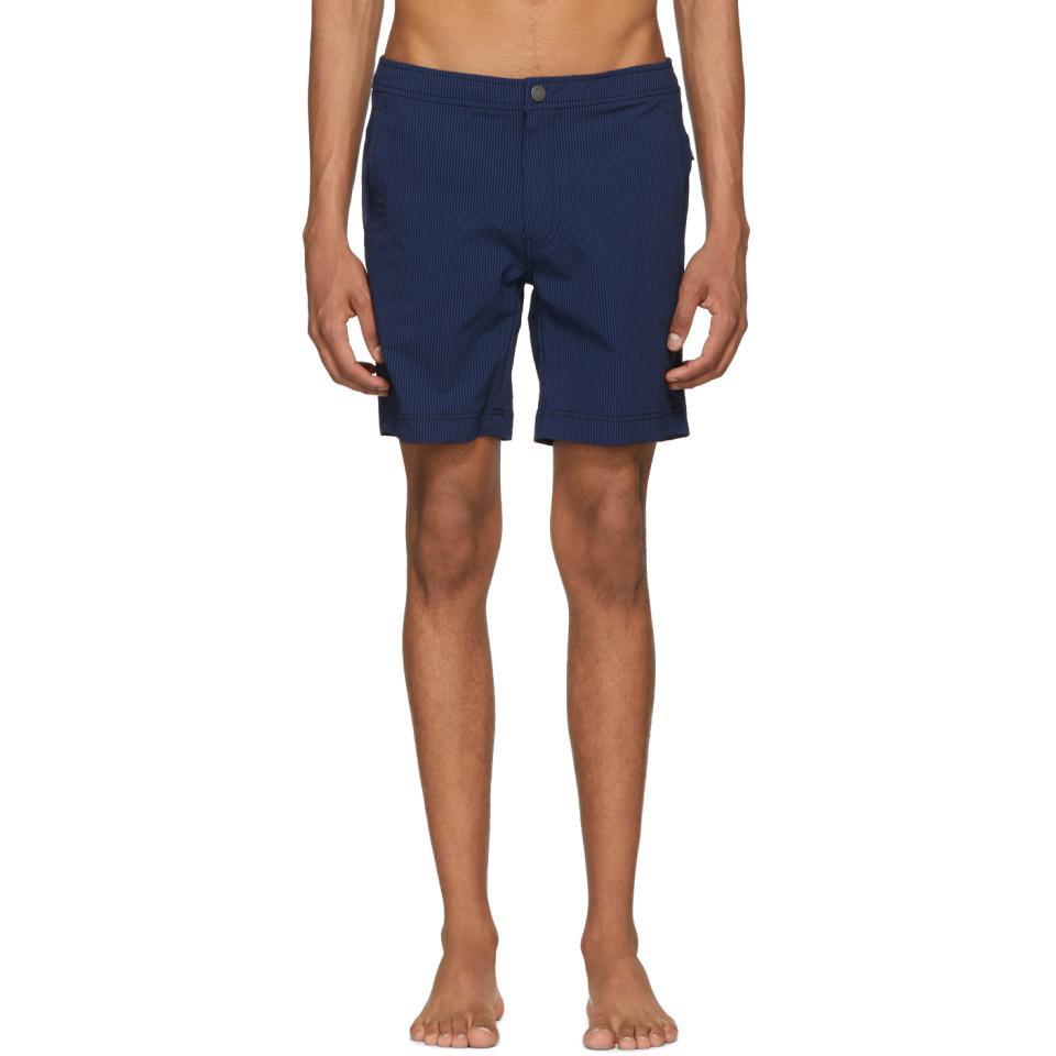 2316d918c5 Onia Navy Striped Calder Swim Shorts in Blue for Men - Lyst