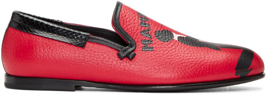 4f5a84ecf8 Lyst - Dolce   Gabbana Red Mambo Loafers in Red for Men