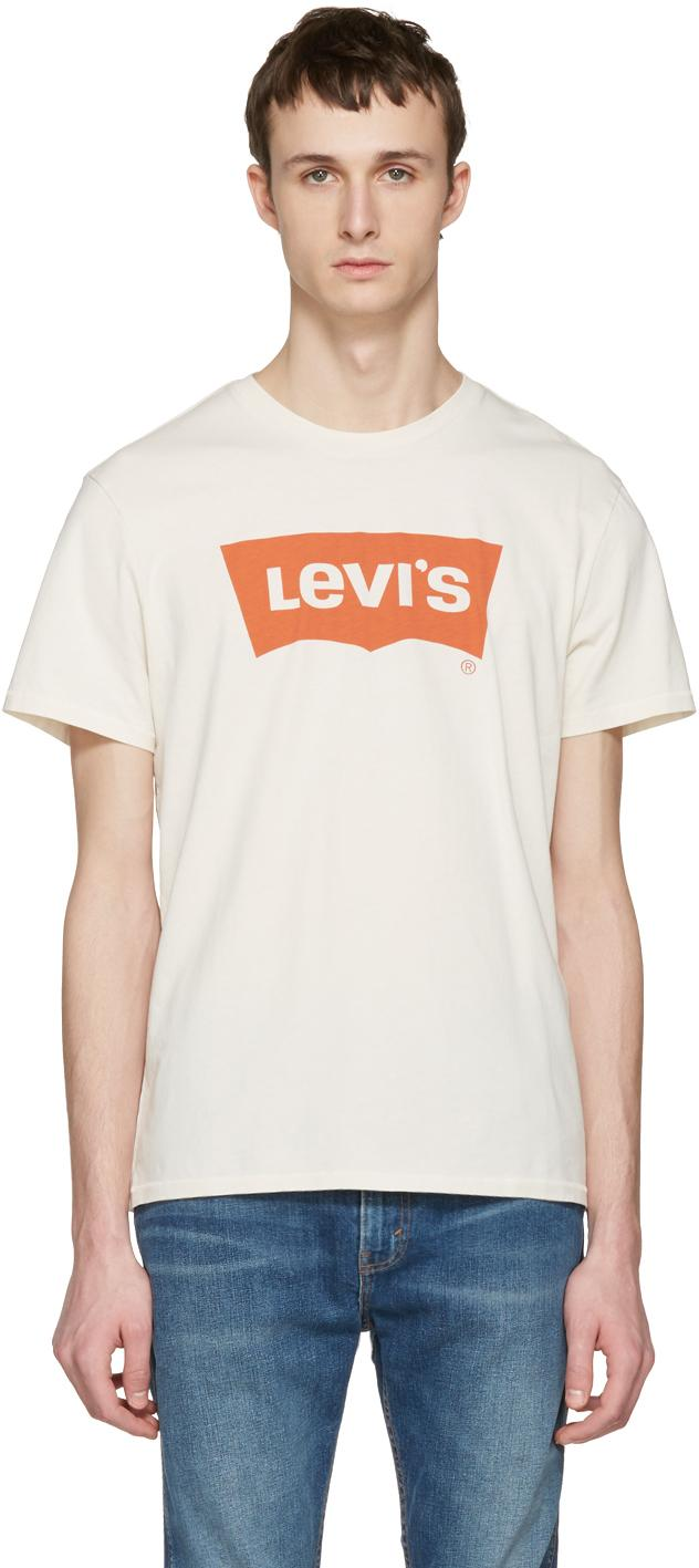 Levi 39 S Off White Batwing T Shirt In White For Men Lyst