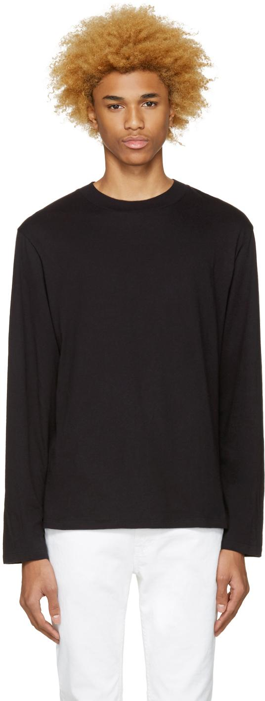 T by alexander wang black high neck t shirt in black for for High neck tee shirts