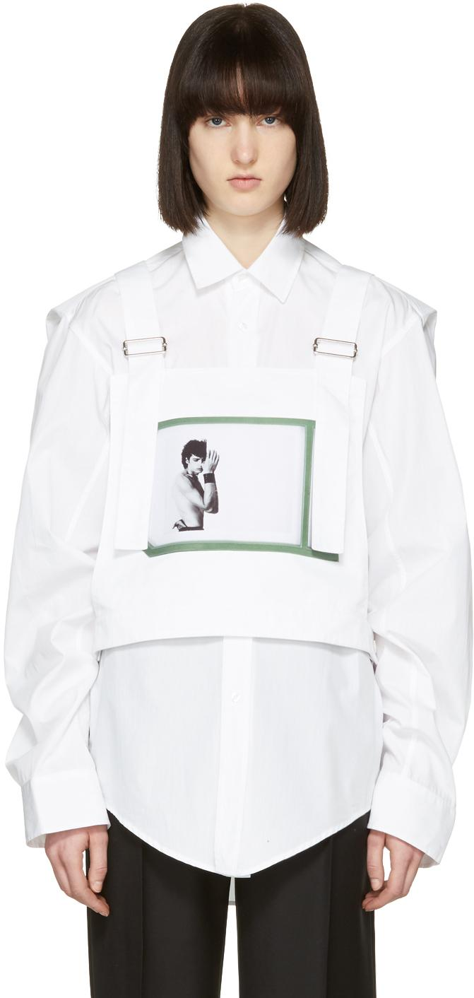 Raf simons white robert mapplethorpe edition self portrait for Raf simons robert mapplethorpe shirt