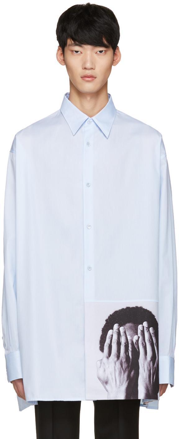 Raf simons blue robert mapplethorpe edition alistair for Raf simons robert mapplethorpe shirt