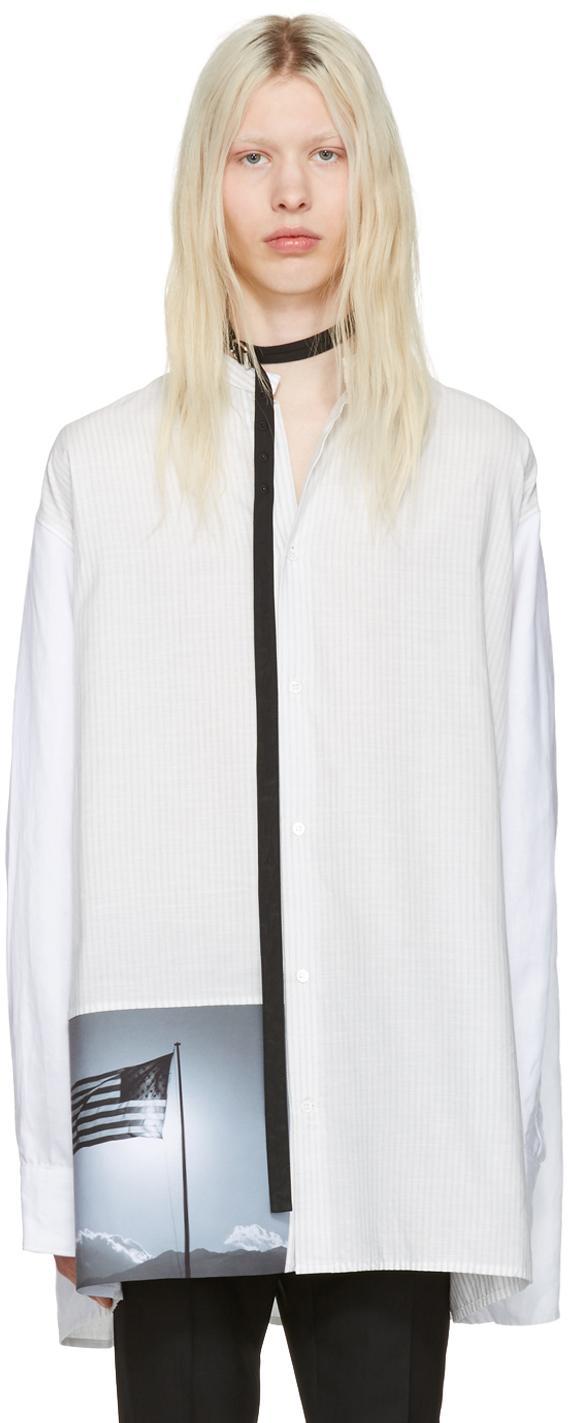 Raf simons white robert mapplethorpe edition oversized for Raf simons robert mapplethorpe shirt