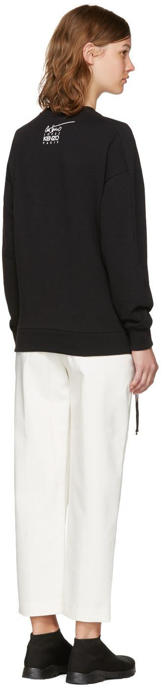 6696081dffe7 Lyst - KENZO Black Donna Jordan Zipped Sweatshirt in Black
