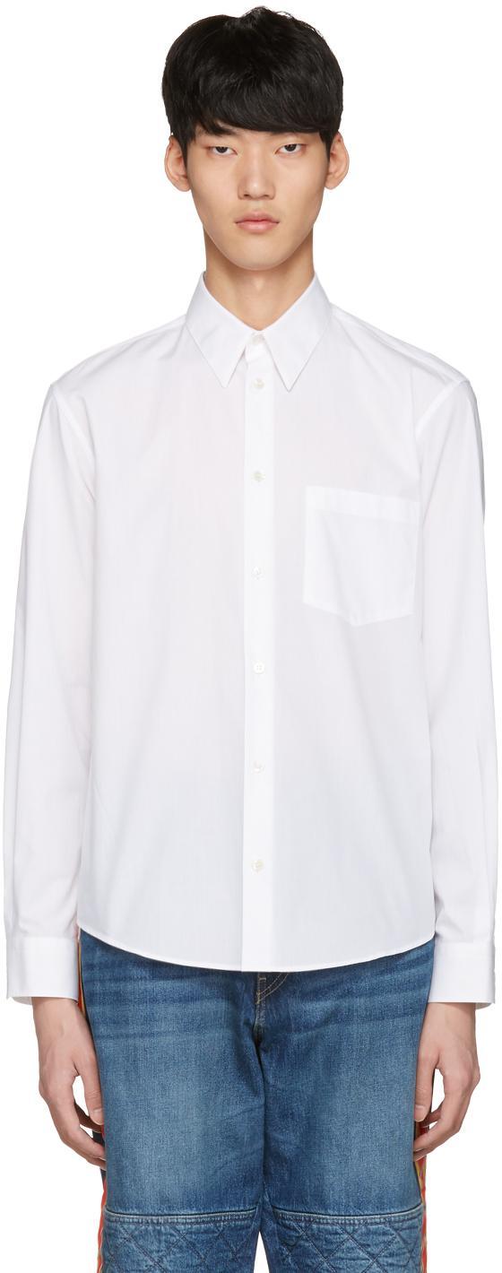 Stella mccartney white 39 nice one 39 shirt in white for men for Nice shirts for men
