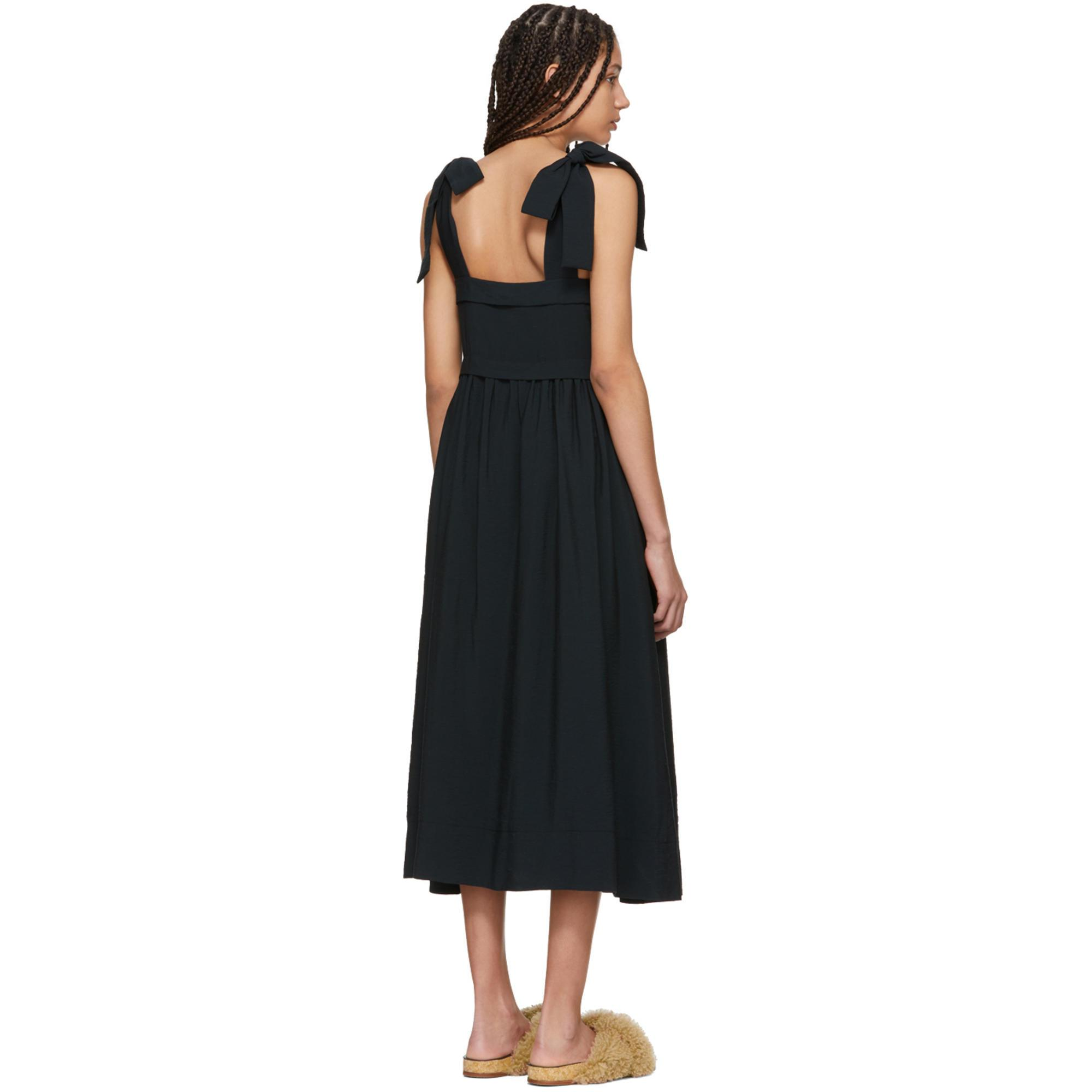 Lyst - See By Chloé Black Tie Shoulder Dress in Black