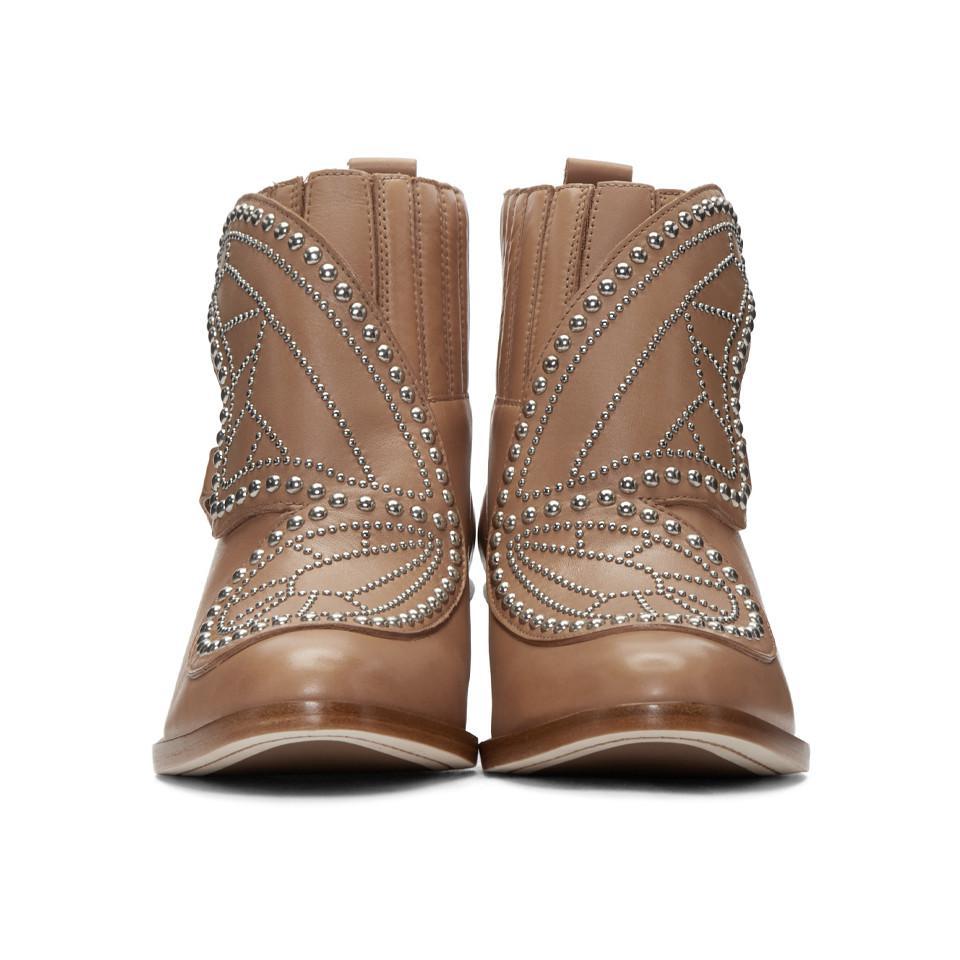 Prix D'usine SOPHIA WEBSTER Tan Karina Boots Choisir Un Meilleur Jeu populaire Boutique En Vente MlWlB