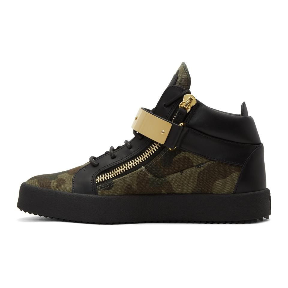 Giuseppe Zanotti Green Camo May London High-Top Sneakers JVlWJ1M6fI