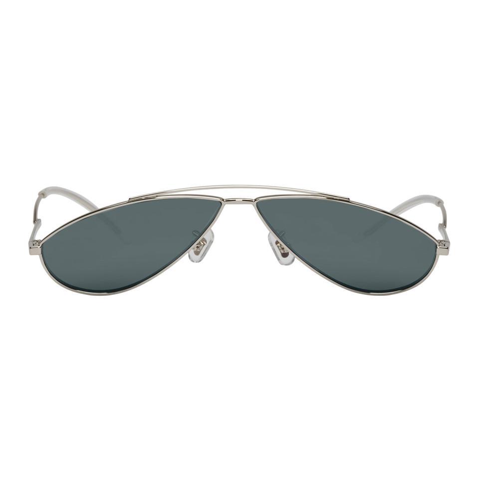 85b8d970a37 Gentle Monster Silver Kujo Sunglasses in Gray - Lyst