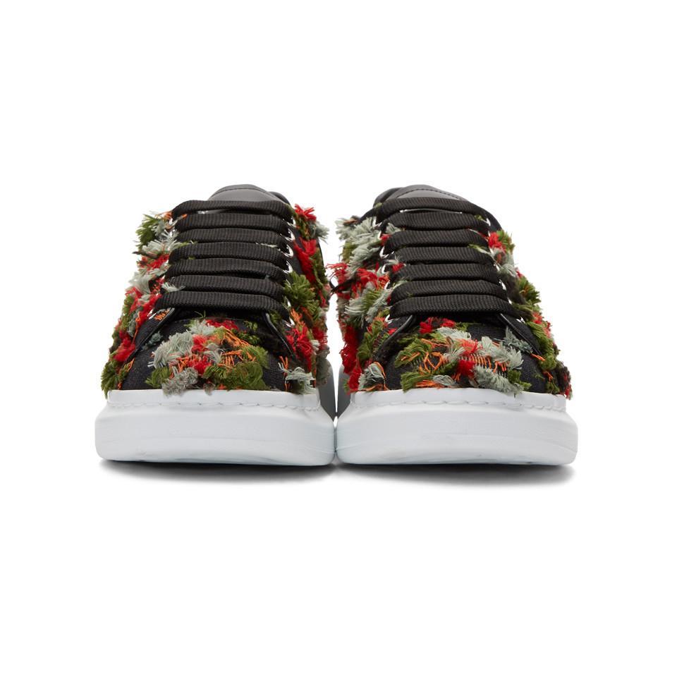 Alexander McQueen Frayed Trim Sneakers yw4ifDvS