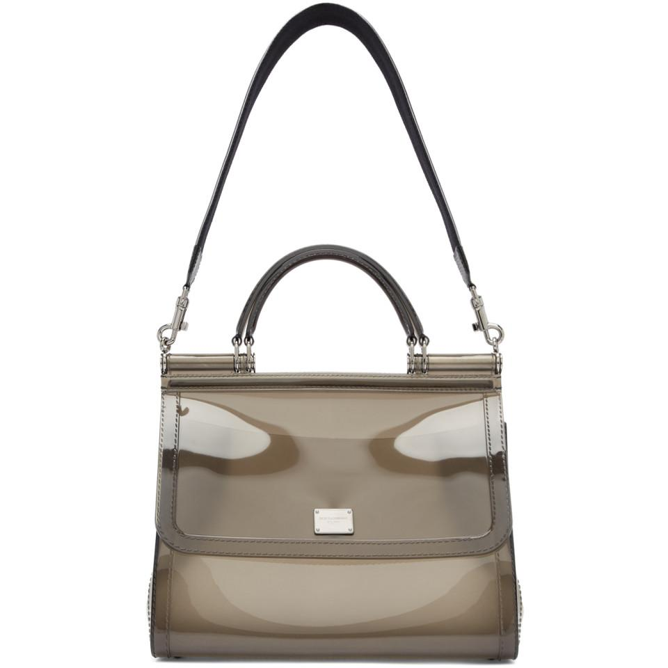 Lyst - Dolce   Gabbana Grey Small Rubber Miss Sicily Bag 032a31884a3