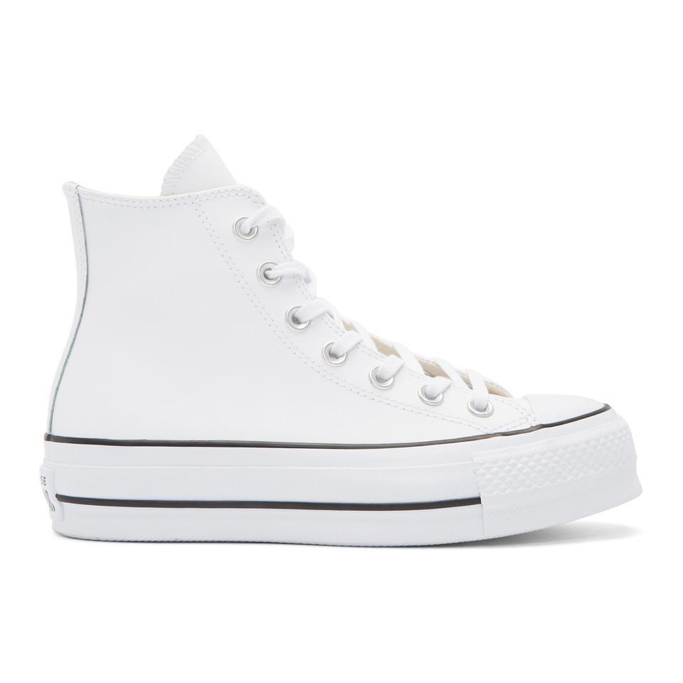 dernière remise prix modéré Garantie de satisfaction à 100% Baskets montantes blanches Chuck Taylor All-Star Lift Converse en coloris  White
