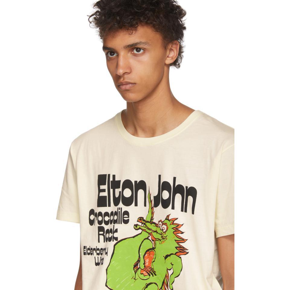 e417b26260fa Gucci - Multicolor Off-white Elton John Crocodile Rock T-shirt for Men -.  View fullscreen