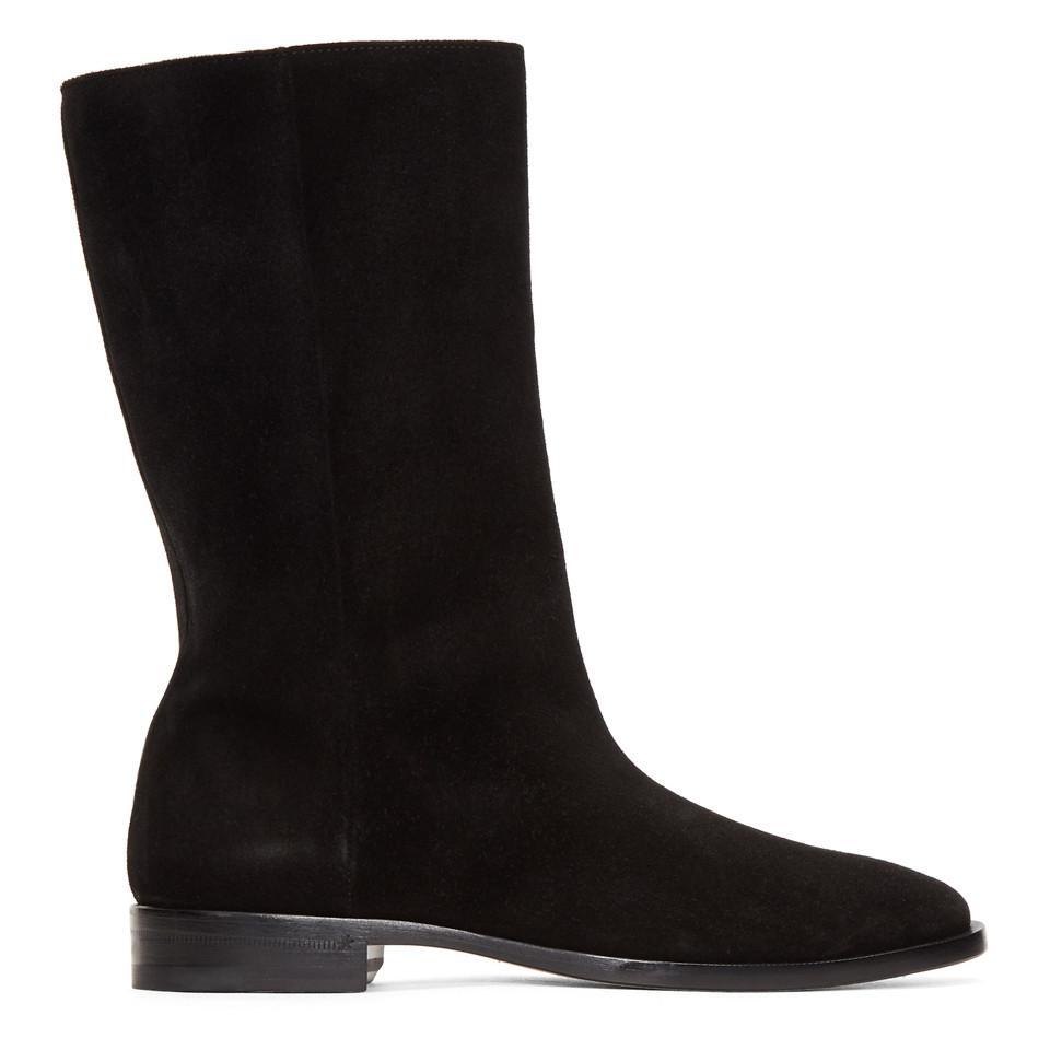 Saint Laurent Suede Matt Tall Boots hkhLPjAJ