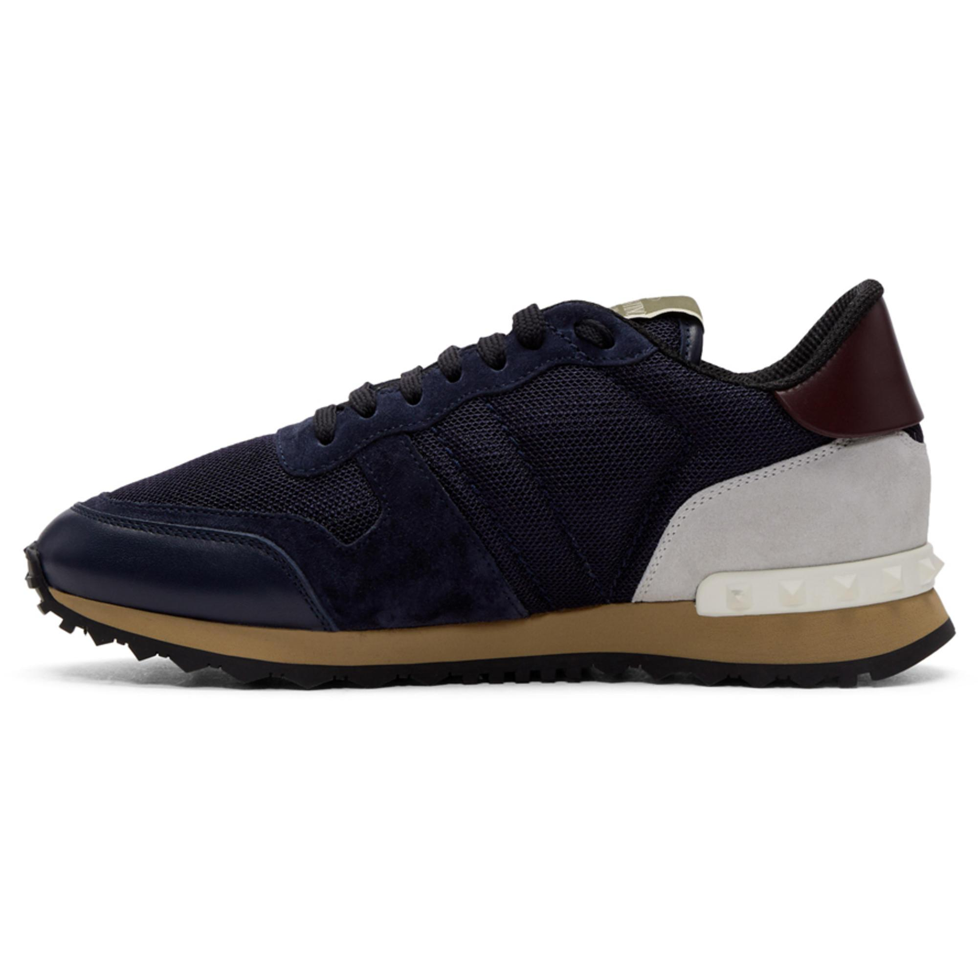 ValentinoNavy Garavani Mesh Rockrunner Sneakers HlVdJ8l