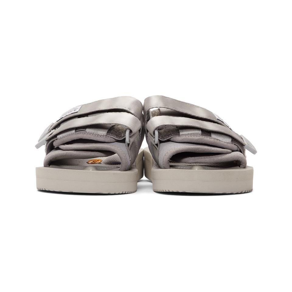 e591594d78f Suicoke - Gray Grey Suede Moto-vs Sandals for Men - Lyst. View fullscreen