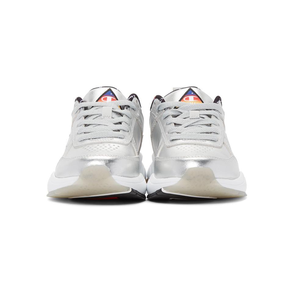 aa86ceb08ed Champion - Silver Metallic 93eighteen Sneakers - Lyst. View fullscreen