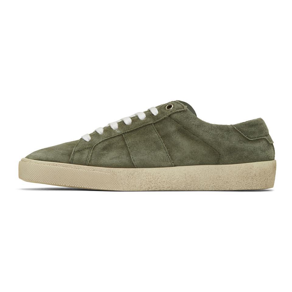 Green Suede Court Classic SL/06 Sneakers Saint Laurent lHMIcV1KJJ