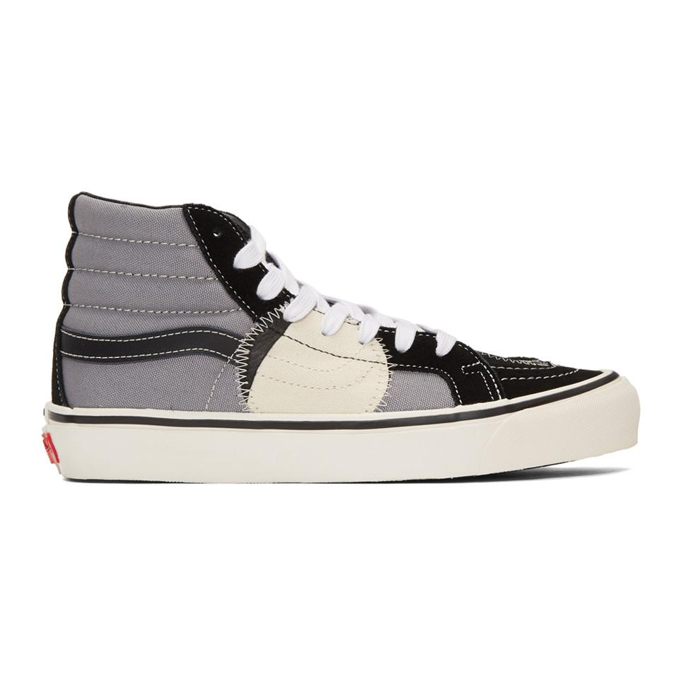 4358f2c82b Lyst - Vans Black And Grey Sk8-hi Bricolage Sneakers in Black for Men