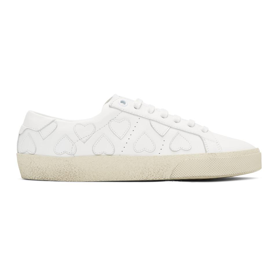 Saint Laurent & Heart Court Classic Sneakers q1oT1VN1C