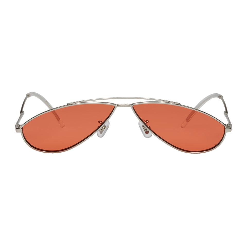 ed4d200b2ca5 Gentle Monster Silver And Orange Kujo Sunglasses for Men - Lyst