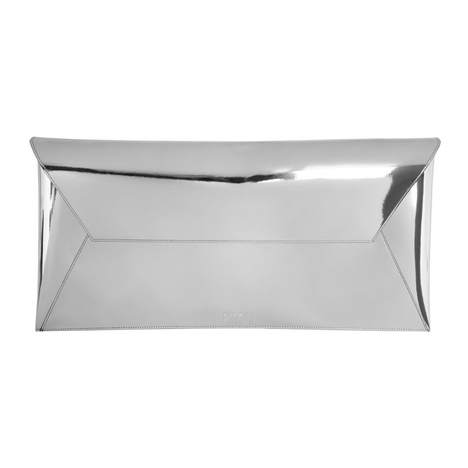 Silver Long Fold Over Clutch Maison Martin Margiela Cheap Extremely Fast Delivery Online Cheap Sale Websites Real Online Factory Sale XkGRlkSS