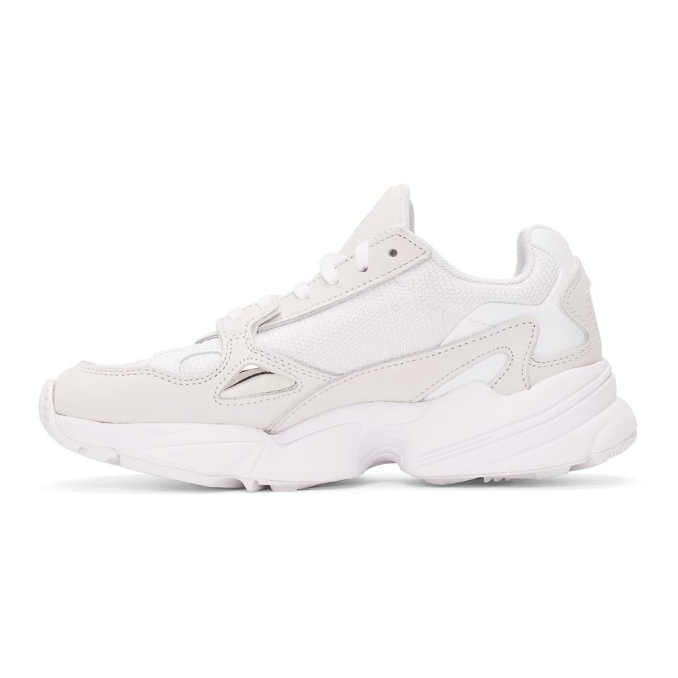 Adidas Originals White Falcon 90s Running Sneakers In White Lyst