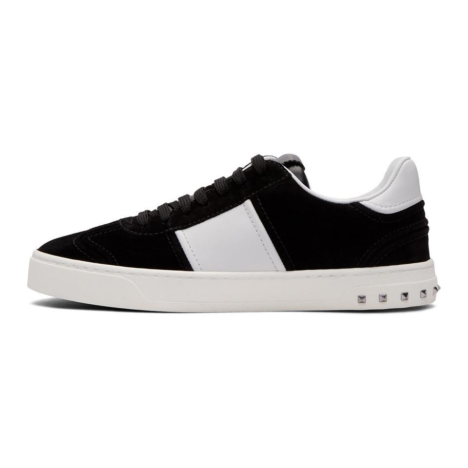 Navy and White Valentino Garavani Suede Flycrew Sneakers Valentino hs7433I6PB