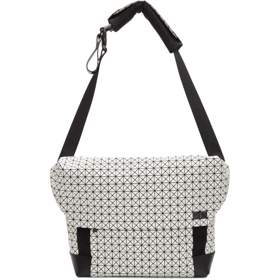 87c3b739079e Bao Bao Issey Miyake White And Black Sling Messenger Bag in Black ...