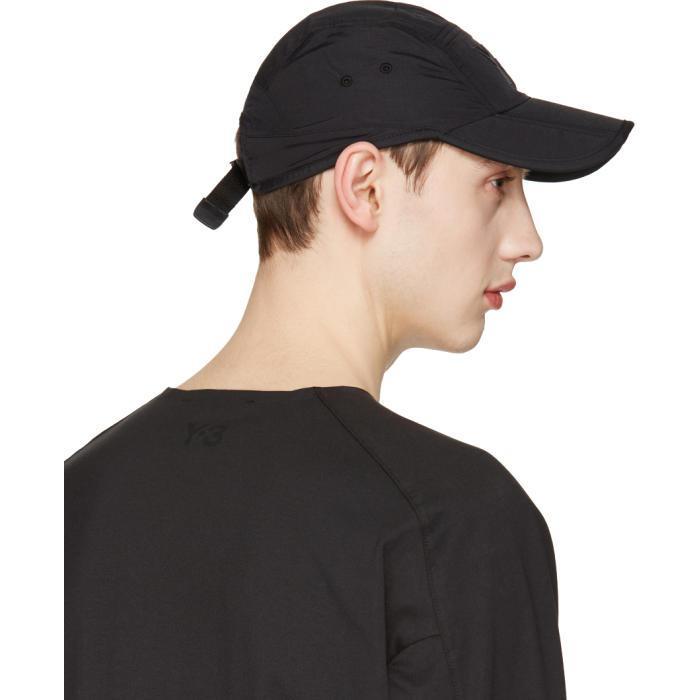 7d8558a96 Lyst - Y-3 Black Fold Cap in Black for Men