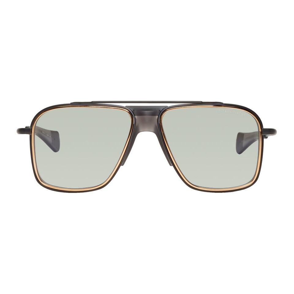 bb688c2ee811 Lyst - DITA Black And Gold Initiator Sunglasses in Black for Men