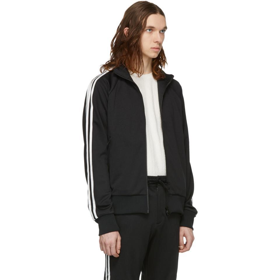 028603f2d Y-3 - Black 3-stripe Track Jacket for Men - Lyst. View fullscreen