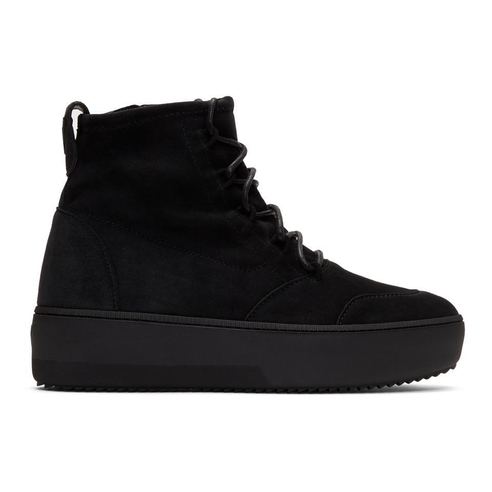 Giuseppe Zanotti Black Suede Zola High-Top Sneakers