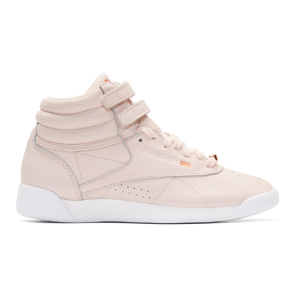 Pink Freestyle High Muted Sneakers Reebok TlX16cCCA