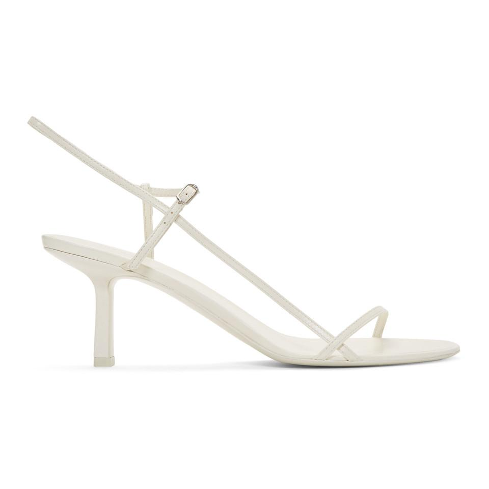 26e1634c7b6 Lyst - The Row White Bare Heel Sandals in White