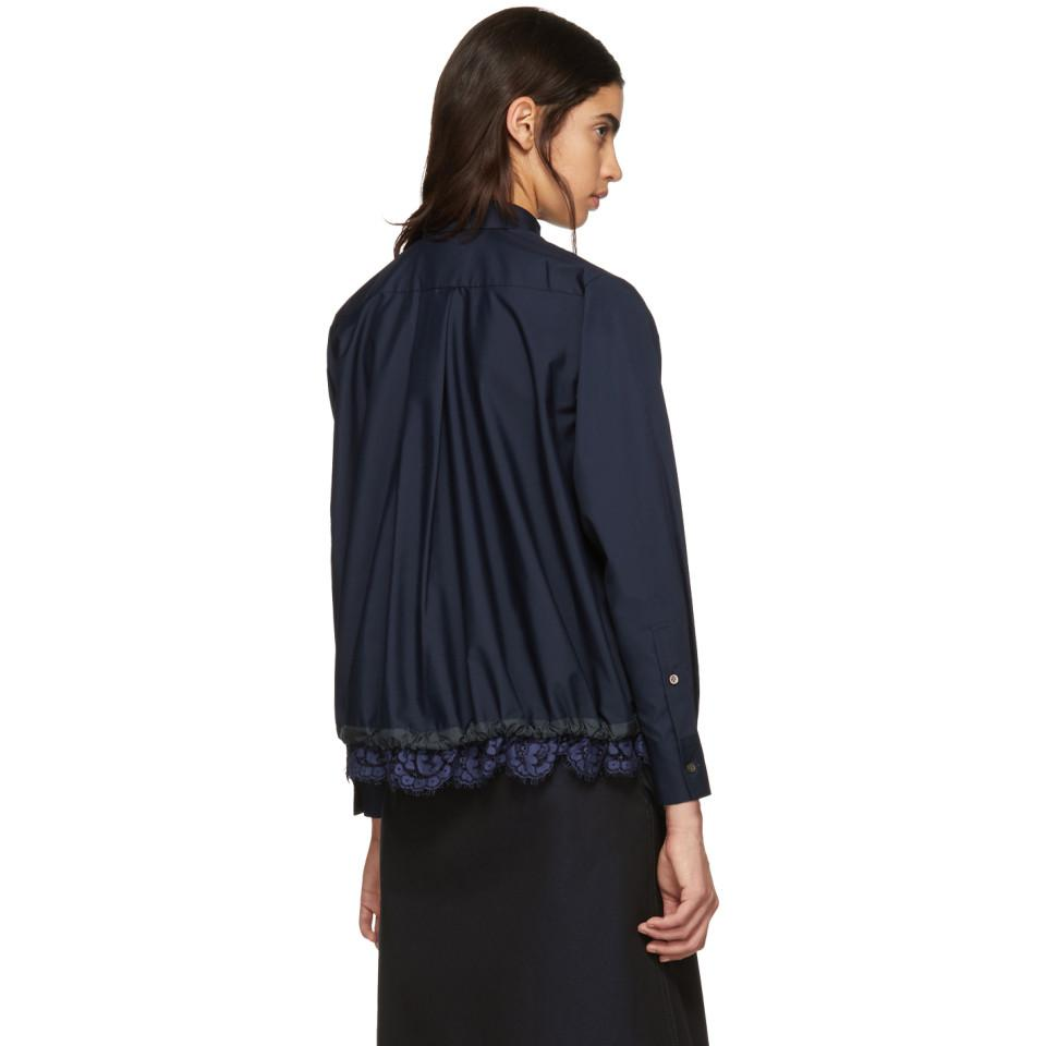 Looking For Cheap Price Navy Lace Bottom Shirt sacai Footlocker Pictures Cheap Price Cheap Huge Surprise Footaction Cheap Price ZtlYphQ8
