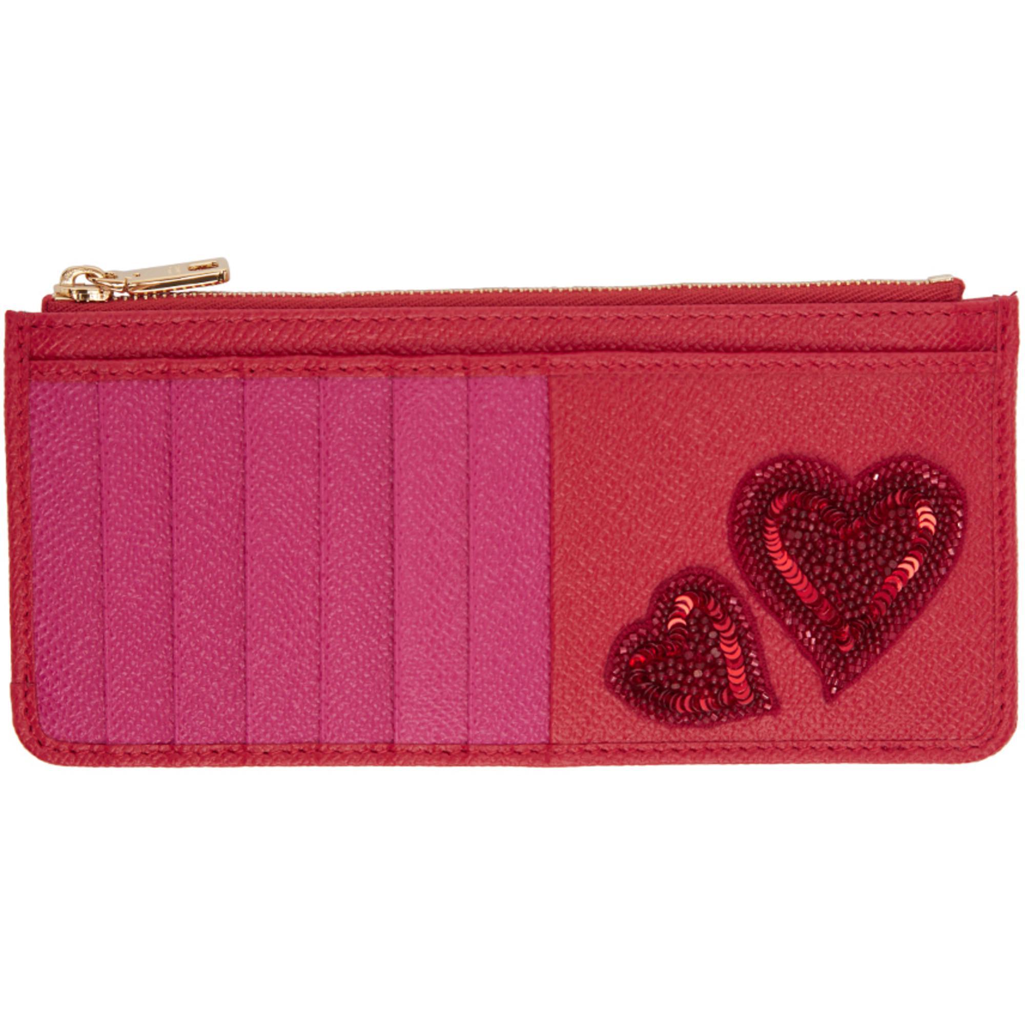 del Dolce Titular y rosa corazón tarjeta bordado la Gabbana de rojo qqwzxtT