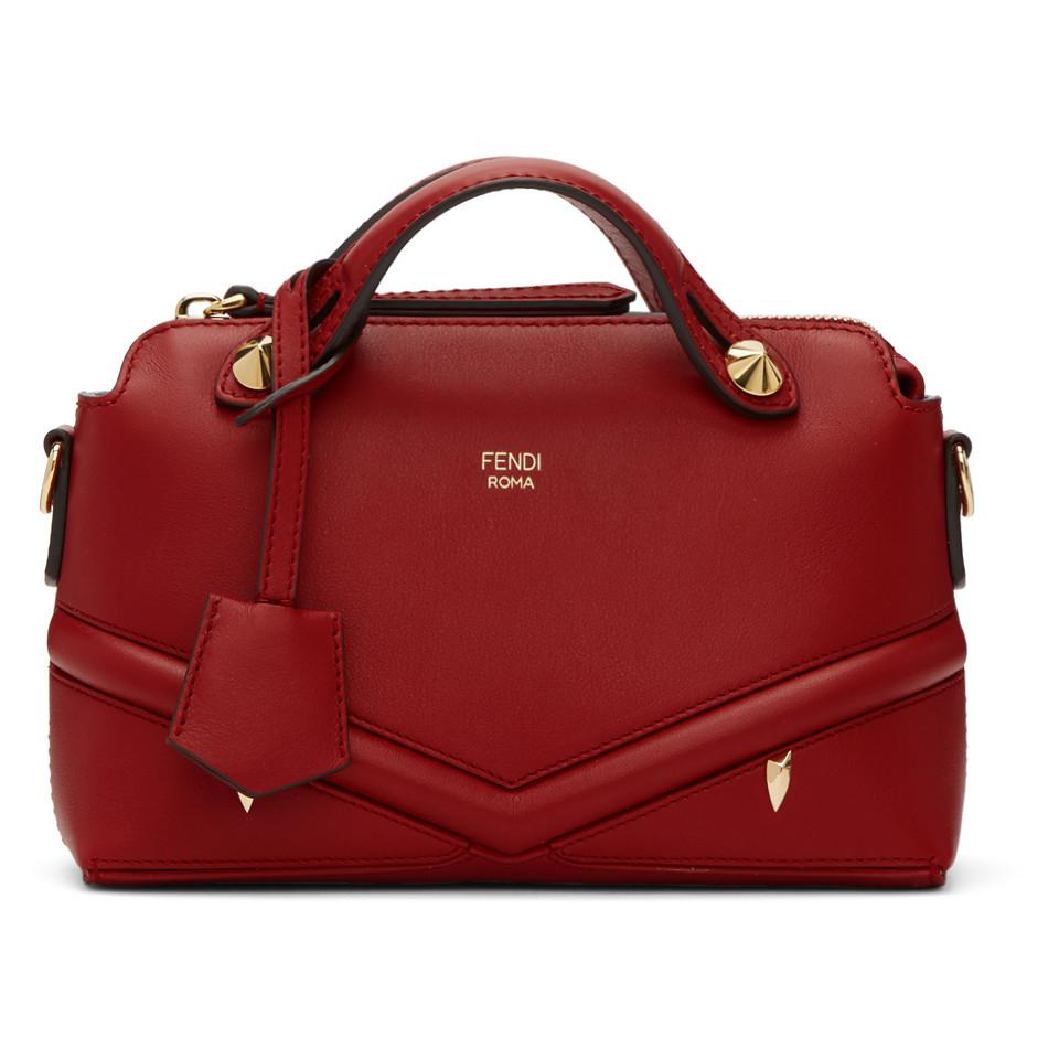 1bed9b1a79 Lyst - Fendi Red Mini By The Way Bag in Red - Save 13%
