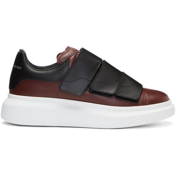 Alexander McQueen & Burgundy Oversized Sneakers FSDZP1