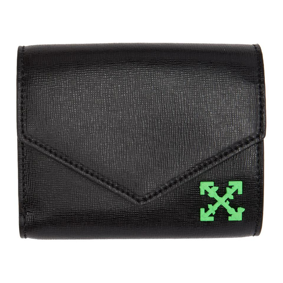 0fb5b083e276 Lyst - Off-White c o Virgil Abloh Black Small Wallet in Black - Save 21%